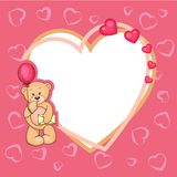 Cute valentine teddy bear Royalty Free Stock Photography