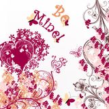 Cute Valentine or wedding card be mine Royalty Free Stock Image