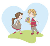 Cute valentines day card Royalty Free Stock Photography