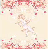 Cute valentines day card with cupids Royalty Free Stock Image