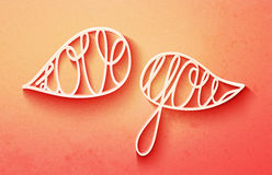Cute valentines day lettering, love you words in speech bubbles Stock Images