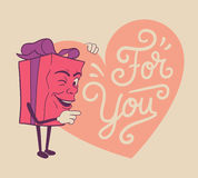 Cute valentines gift for you Stock Photography