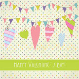 Cute valentines hearts background Stock Photography
