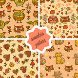 Cute valentines seamless patterns Stock Image