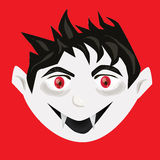 Cute vampire head vector Royalty Free Stock Photo