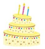 Cute vanilla cake Royalty Free Stock Images