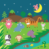 Cute vector animals Royalty Free Stock Image