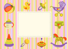 Cute vector baby background. Cartoon children pattern. Royalty Free Stock Image