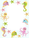 Cute vector baby background. Cartoon children pattern. Royalty Free Stock Images