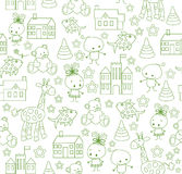 Cute vector baby background. Cartoon children pattern. Royalty Free Stock Photography
