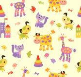 Cute vector baby background. Cartoon children pattern. Stock Photo