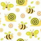Cute vector baby background. Cartoon children pattern. Stock Photography