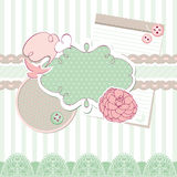 Cute vector baby frame Royalty Free Stock Image