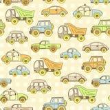 Cute vector baby seamless background. Cartoon children pattern. Stock Photo