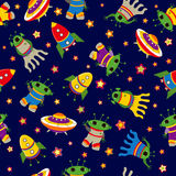 Cute vector baby seamless background. Cartoon children pattern. Royalty Free Stock Photos
