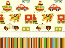 Cute vector baby seamless background. Cartoon children pattern. Royalty Free Stock Image