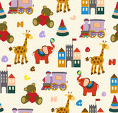 Cute vector baby seamless background. Cartoon children pattern. Stock Image