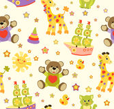 Cute vector baby seamless background. Cartoon children pattern. Royalty Free Stock Photography