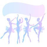 Cute vector ballerinas Stock Images