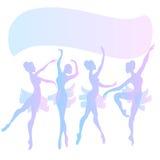 Cute vector ballerinas Stock Images