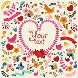 Cute vector card with heart. Royalty Free Stock Image