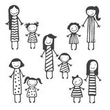 Cute vector card with mother and child Stock Photography