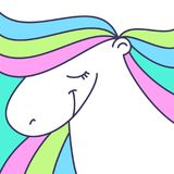 Cute pony illustration Royalty Free Stock Images
