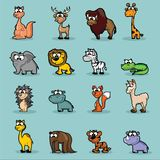 Cute vector cartoon wild animals Royalty Free Stock Images
