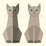 Cute vector cats Royalty Free Stock Images