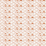 Cute vector cats seamless pattern. Royalty Free Stock Image