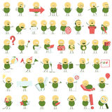 Cute Vector Character In Different Situations Royalty Free Stock Photo