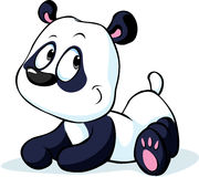Cute vector Chinese panda bear isolated on white Royalty Free Stock Image