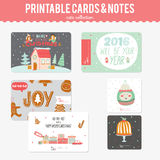 Cute Vector Christmas Cards and Stickers Royalty Free Stock Images
