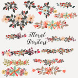 Cute vector collection from flower borders ideal for save the da Royalty Free Stock Photo