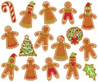 Cute Vector Collection and Gingerbread Men, Women Stock Photography