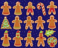 Cute Vector Collection and Gingerbread Men, Women Royalty Free Stock Photo