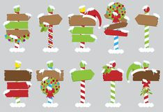 Cute Vector Collection of North Pole Signs Royalty Free Stock Image