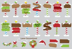 Cute Vector Collection of North Pole Signs Stock Photos