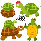 Cute vector collection of Turtle, the winne Stock Photography