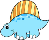 Cute Vector Dinosaur. Cute Blue Vector Dinosaur Illustration Royalty Free Stock Image