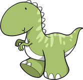 Cute Vector Dinosaur. Cute Green Vector Dinosaur Illustration Stock Images