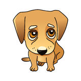 Cute vector dog. Labrador puppy isolated on white, golden retriever sad, sorry royalty free illustration