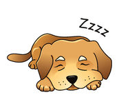 Cute vector dog sleeping Royalty Free Stock Photo