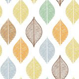 Cute vector fall leaf seamless pattern. Abstract autumn print with leaves. Elegant beautiful nature ornament for fabric Royalty Free Stock Photography
