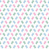 Cute vector flowers seamless pattern Royalty Free Stock Photography
