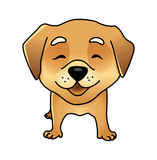 Cute vector happy dog Stock Photography