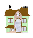 A cute vector house Stock Images