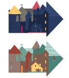 Cute vector illustration of a city Royalty Free Stock Images