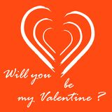 Cute vector illustration with heart and inscription. Design for banner, flyer, poster or print. Greeting card Valentine\'s Day Stock Photo
