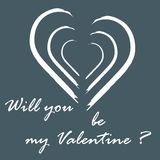 Cute vector illustration with heart and inscription. Design for banner, flyer, poster or print. Greeting card Valentine\'s Day Stock Image